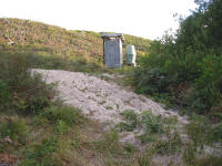 Toilet and water supply - Pieman Heads campsite