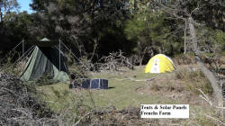 Tents & Solar Panels at Frenchs Farm
