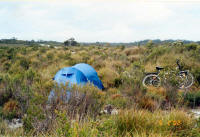 Campsite on the Western Explorer
